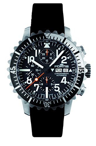 Fortis 671.17.41 K B-42 MARINEMASTER BLACK/SILVER Mens Chronograph Automatic Watch