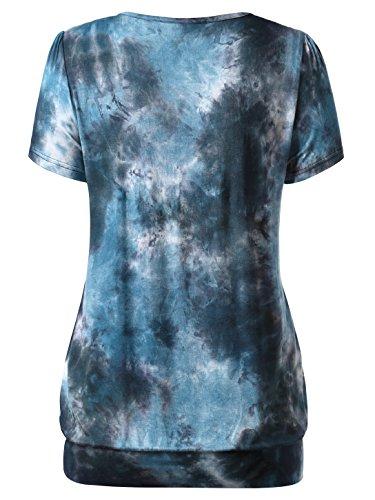 WAJAT - Camiseta Blusa para Mujer con Estampado Azul#1