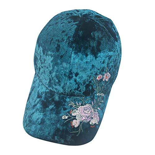 WaiiMak Hispter Men Women Unisex Applique Floral Baseball Cap Unisex Snapback Hip Hop Flat Hat - Hat Applique Athletic