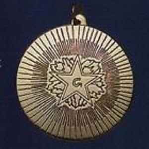 Colgante–Amuleto, Masónica Pedernal, latón, peso 7g
