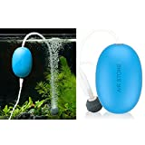 buy Mini Aquarium Air Pump Outdoor Quietest USB Air Pump for Fish Tank with Air Stone & Silicone Tube Small No-Charger Oxygen Pump for Aquarium Silent Aquarium Air Pump, Blue now, new 2018-2017 bestseller, review and Photo, best price $15.99