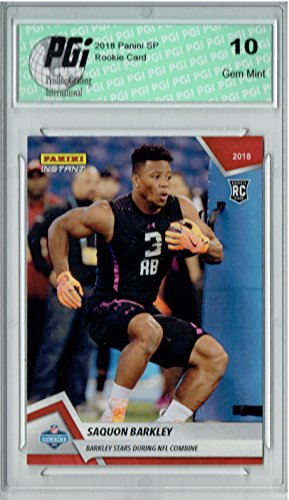 Saquon Barkley 2018 Panini Instant #1 Only 467 Made Rookie Card PGI 10
