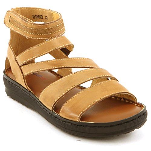 Comfortiya Women's Nicole Tan Leather Casual Slingback Sandal Size 39 M EU / 7.5-8 B(M) US