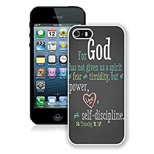 Bible Quote Iphone ipod touch4 Case White Cover