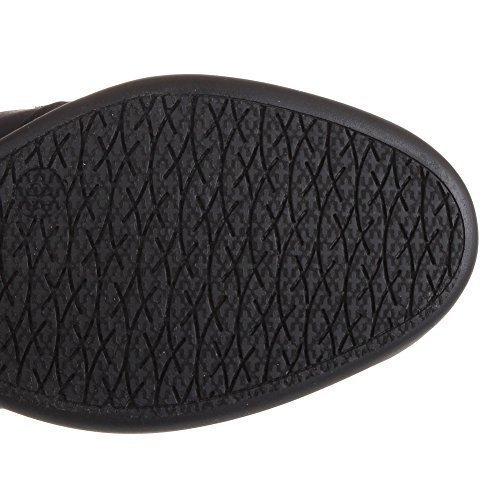 Sammy Collection (Top Moda SAMMY-40 High Top Velcro Womens Hidden Wedge Sneaker Shoes, Black 5)