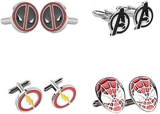 4 pares de gemelos de superhéroe de Los Vengadores, Iron Man, Thor ...