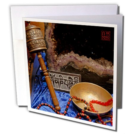 12 Piece Greeting Card (3dRose Buddhist Art, Assorted pieces - Greeting Cards, 6 x 6 inches, set of 12 (gc_107600_2))