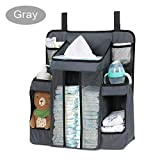 Combination Crib and Changing Table FOME BABY Baby Diaper Organizer for Crib, TC Oxford Cloth Baby Diaper Caddy Hanging Diaper Organizer Nursery Organizer and Storage for Baby Essentials Hang on Crib Playard Changing Table Car Wall