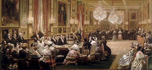 Concert In The Gallerie Des Guise At Chateau Deu - By Eugene Louis Lami - Canvas Prints 40