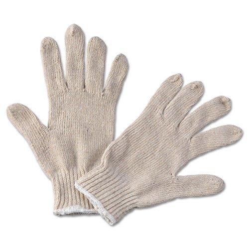 - String Knit General Purpose Gloves, Large, Natural, 12 Pairs