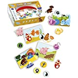 Happy Farm Game for Toddlers and Preschool Kids   Learning Sorting and Counting - Therapy Fine Motor Skills Activity. For 3 years old. Eco-Friendly made of durable plastic   Educational Puzzle Toy.