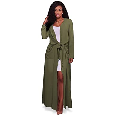 Women's Autumn Fall Cover Up Lightweight Long Loose Chiffon Maxi ...