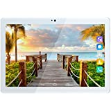 Kivors 3G Touch Tablet 10.1 Inch - Android 7.0-1G RAM + 16GB ROM - 2.5D Curve Screen - 800 x 1280 HD - Dual SIM Card Slots - Dual Camera - Bluetooth - Wifi for Kids Adults (10.1 inch, Gold)