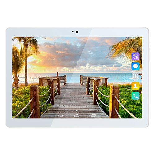 Kivors 3G Touch Tablet 10.1 Inch - Android 7.0-1G RAM + 16GB ROM - 2.5D Curve Screen - 800 x 1280 HD - Dual SIM Card Slots - Dual Camera - Bluetooth - WiFi for Kids Adults (10.1 inch, Gold) by Kivors