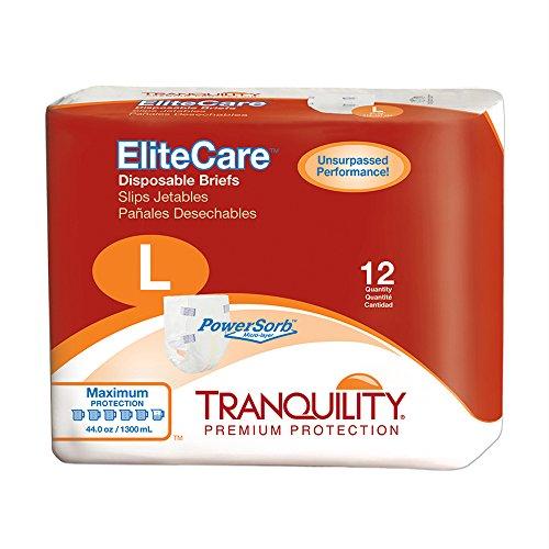 Tranquility 2413 EliteCare Disposable Briefs-Large-48/Case