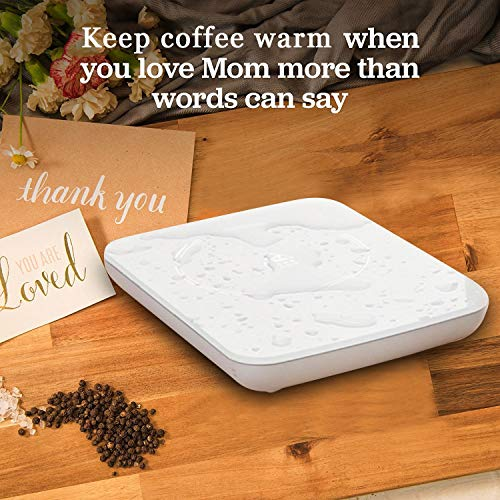 Coffee Mug Warmer (Mug Warmer Coffee Cup Warmer for Desk Auto Shut Off Electric Candle Warmer Hot Coffee Plate Accessories for Tea Beverage Cocoa Milk and Best Gift for Coffee Lovers)