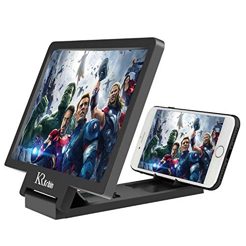 Screen Magnifier, 2019 Upgraded Cell Phone 3D HD Screen Enlarge Video Movie Amplifier Holder Stand for iPhone 8/7/6S/6/5 and other Cell Phone with Screen Less than 7.0 inches