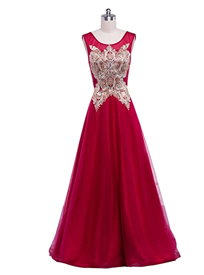 Beauty-Emily Wedding Dresses Rose Ladys Elegant Embroidery Fashion A line Prom Party Dress Rose