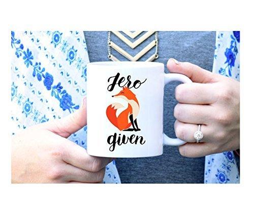 Zero Fox Mug, Zero Fox Given Mug, Curse Word Mug, Funny Mug, Unique Mug, Sassy Mug, Rose Gold Rebel, Cute Coffee Mug