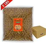 FROLIC WINGS 5 lbs Mealworms, 100 Percent Non-GMO Dried...