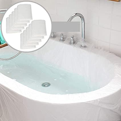 Sopplea 10 Pack Disposable Bathtub Cover Liner Ultra Large Bathtub Liner Plastic Bag For Salon Household And Hotel Bath Tubs 90x47 Inch Amazon Co Uk Kitchen Home