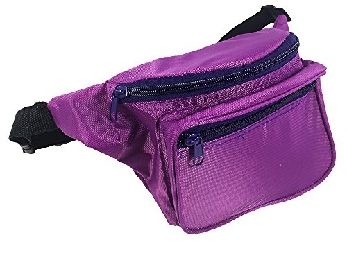 Brightly Colored Waist Bag Fanny Pack Match Your 80's Shirt ()