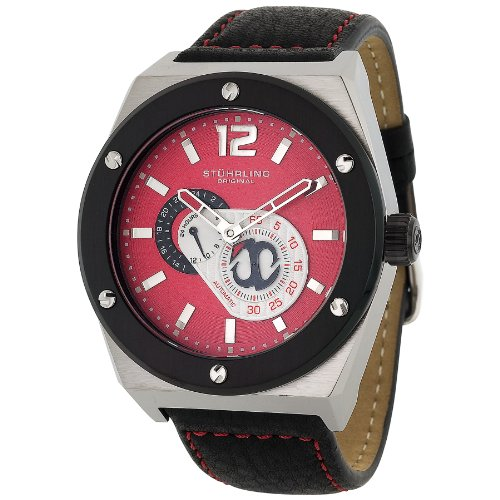 Stuhrling Original Men's 281.332D540 Esprit Automatic Red Dial Watch