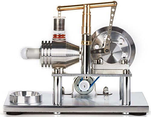 Sunnytech Hot Air Stirling Engine Motor Model Educational Toy Electricity Generator Colorful LED SC (SC02M) by Sunnytech (Image #4)