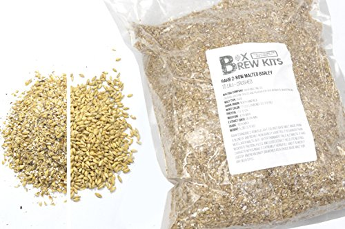 2 Row Barley (RAHR 2-Row Malted Barley 5 LB CRUSHED Home Brewing Beer Making Recipe Ingredients Vacuum Sealed)