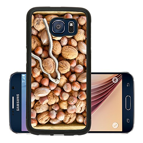 Luxlady Premium Samsung Galaxy S6 Aluminum Backplate Bumper Snap Case IMAGE ID 31786118 Varitey of nuts like walnuts pecans and hazelnuts