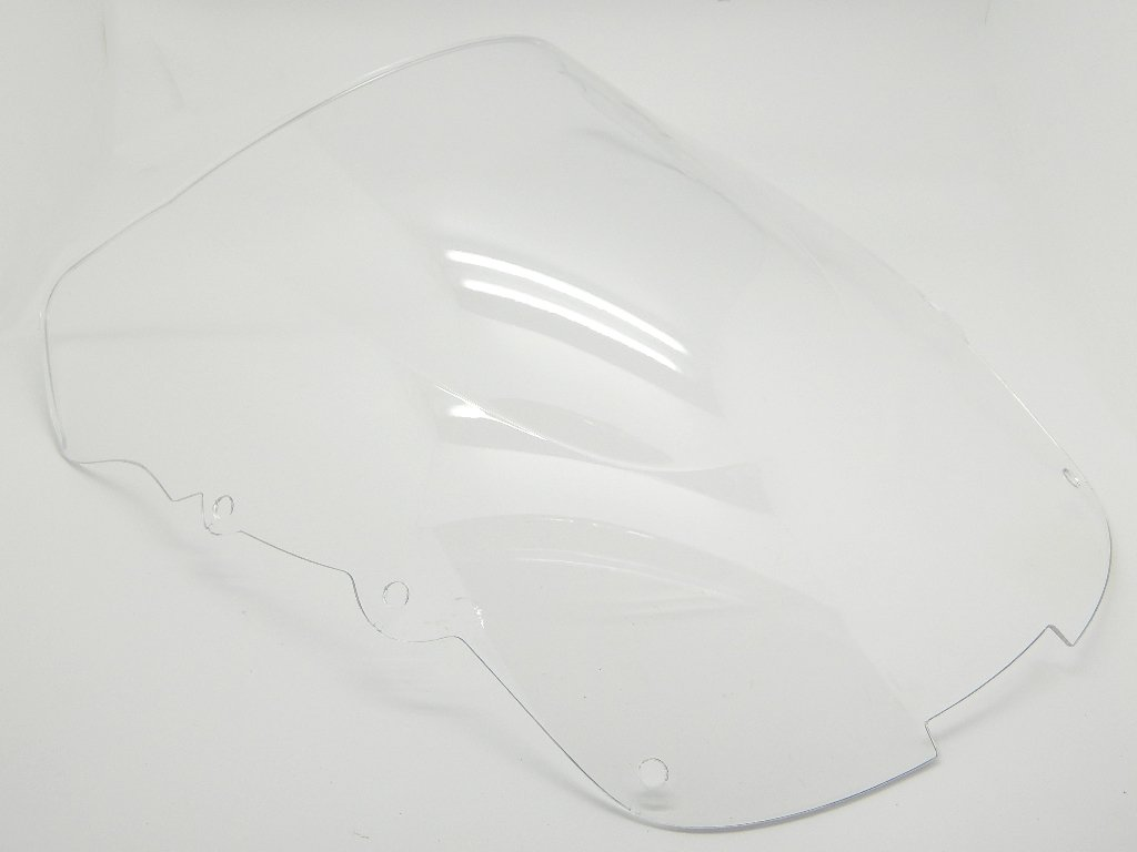 9sparts Black | Clear | Smoke Double Bubble ABS Plastic Injection Windscreen Windshield For 1997-2007 Honda CBR1100XX Black Bird (Clear)