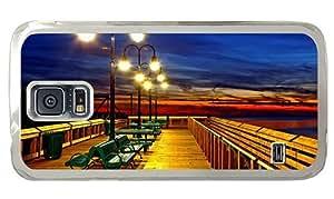Hipster pretty Samsung Galaxy S5 Case Romantic Pier PC Transparent for Samsung S5 by icecream design