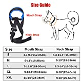 Lepark Dog Muzzle with Fabric for Small, Medium and Large Dogs, Anti Biting, Chewing, Adjustable