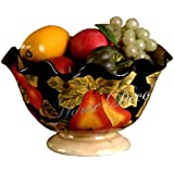 PEDESTAL FRUIT BOWL TUSCANY WINTER FRUIT DECOR