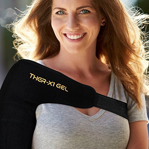 Shoulder Brace w/ Reusable Gel Ice Cold & Heat Pack For Injuries Pain Relief | Sling Support Wrap Ho - http://medicalbooks.filipinodoctors.org