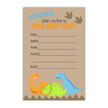 T Rex Dinosaur Birthday Party Invitations 20 Count With Envelopes Old