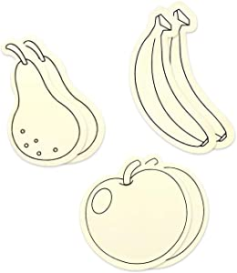 Fruit Medley (Banana, Apple, and Pear) Wood Cutout Shapes Unfinished DIY Crafts - 6 Pieces