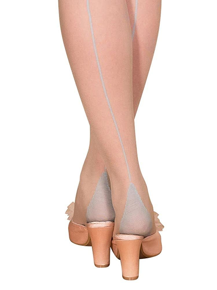 What Katie Did Seamed Stockings Sky Blue Glamour