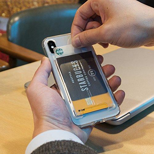 Ringke Slot Card Holder [Peach Pink Rosa Melocotón] Minimalista Slim duro superior de calidad superior palo de la tarjeta de crédito sobre la manga de la tarjeta de archivo adjunto para el Samsung Gal Clear Mist