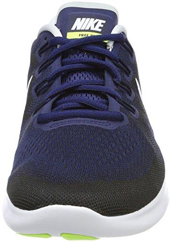 White Black Running RN Binary Blu Volt Blue Uomo Nike Free Scarpe 2017 O6fCwHqw