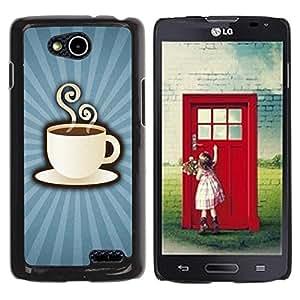 Be Good Phone Accessory // Dura Cáscara cubierta Protectora Caso Carcasa Funda de Protección para LG OPTIMUS L90 / D415 // Coffee Cup Mug Steaming Drink Caffeine Art