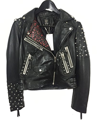 Zara Femme Blouson biker clouté 6098/003