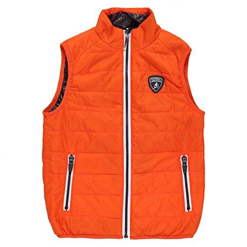 Lamborghini Kids Automobili Lamborghini Reversible Ultralight Down Vest 6 yrs Orange Orange by Lamborghini Kids