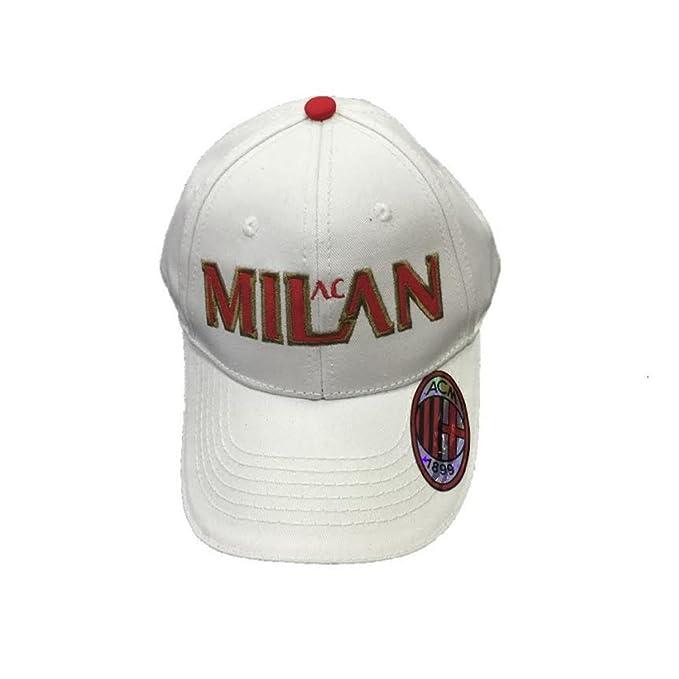 Cappello Uomo Baseball A.C. Milan Calcio Cappellino con Visiera   02774-bianco  Amazon.it  Abbigliamento 4f38d1d03802