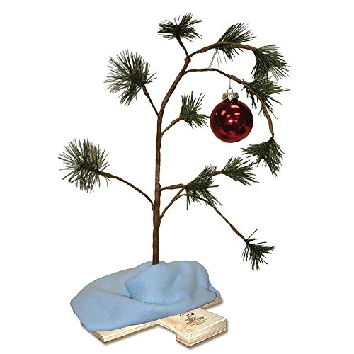 Product Works 24-Inch Charlie Brown Christmas Tree with Linus's Blanket Holiday Décor, Classic Ornament