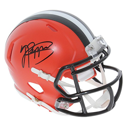 Jabrill Peppers Cleveland Browns Autographed Signed Speed Mini Helmet - JSA Certified Authentic ()