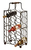 Deco 79 Metal Wine Holder, 26 by 12-Inch
