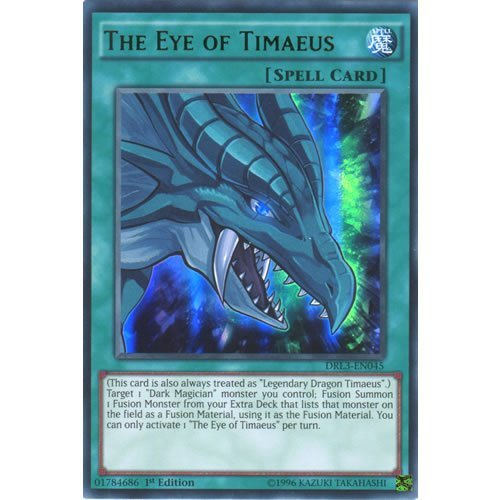 YuGiOh : DRL3-EN045 1st Ed The Eye of Timaeus Ultra Rare Card - ( Yu-Gi-Oh! Single Card ) by Deckboosters