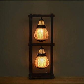 moontang lámpara de pie de Bambú sencillo y Creativa, Salón ...