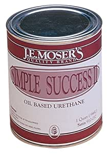 J.E. Moser's 910025, Finishes, Coatings, Simple Success II Gloss, 1 Qt